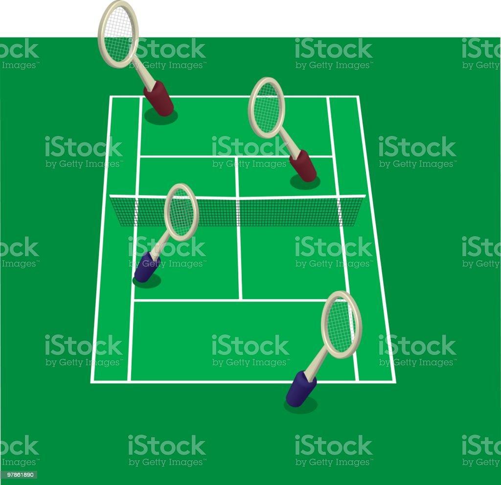 doubles game vector tennis vector art illustration