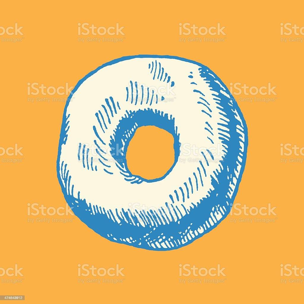 Doughnut vector art illustration