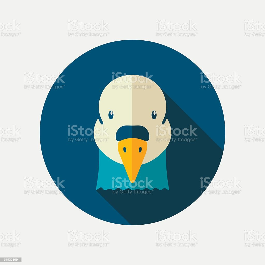 Dove flat icon. Animal head vector symbol vector art illustration