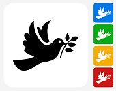 Dove Icon Flat Graphic Design