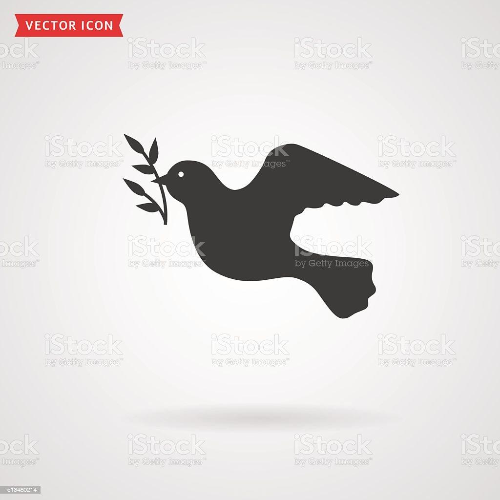Dove icon. Peace concept. vector art illustration