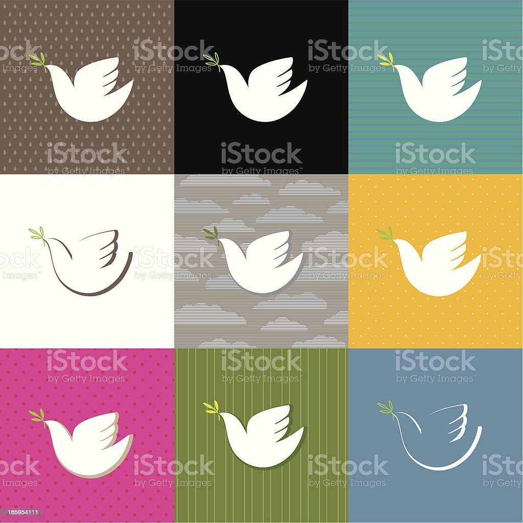 Dove in a square royalty-free stock vector art
