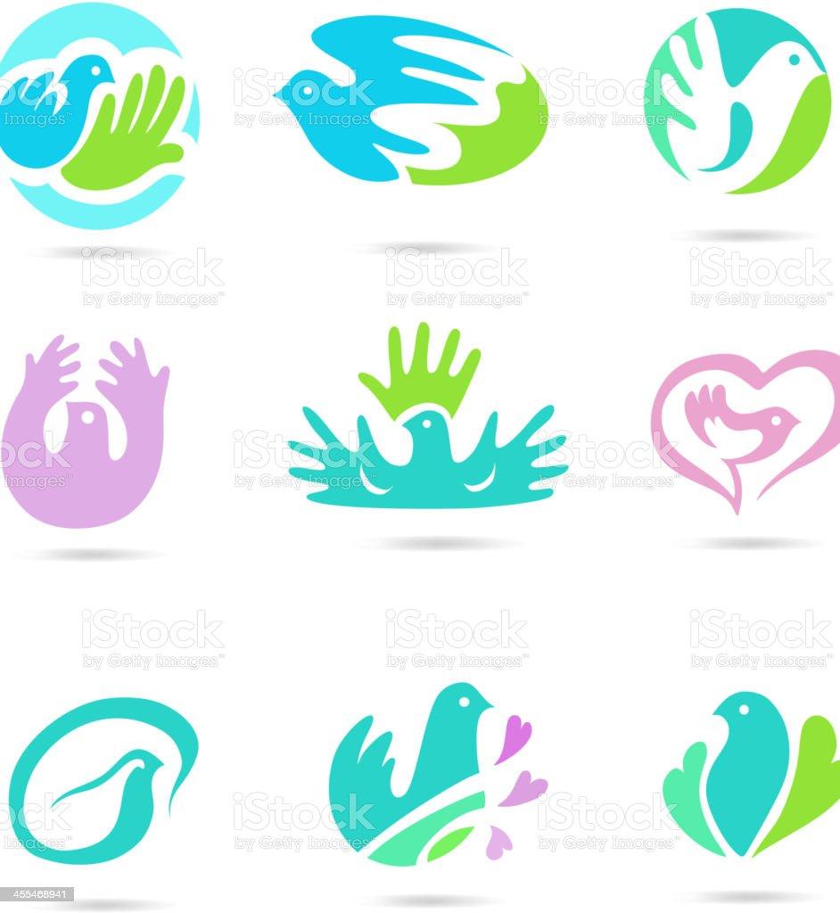 Dove Logo royalty-free stock vector art