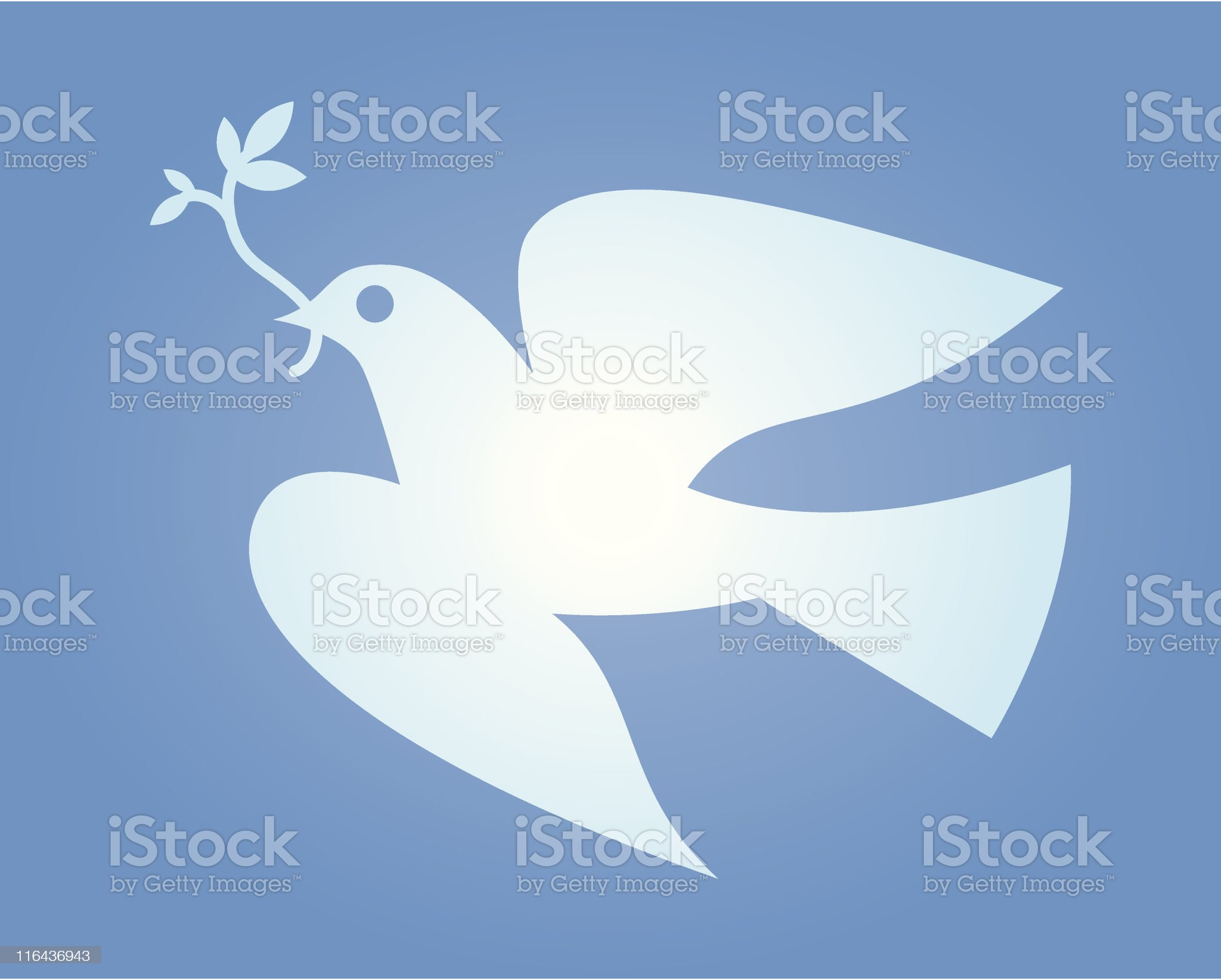 Dove of Peace royalty-free stock vector art