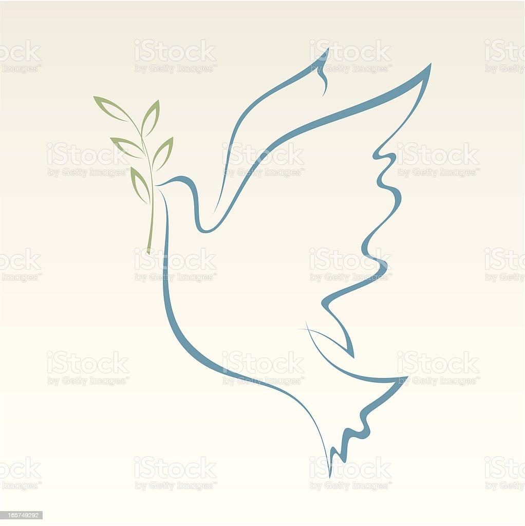 Dove of Peace vector art illustration