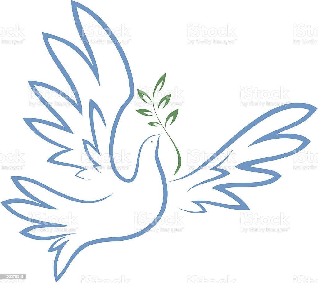 Dove of Peace vector art illustration