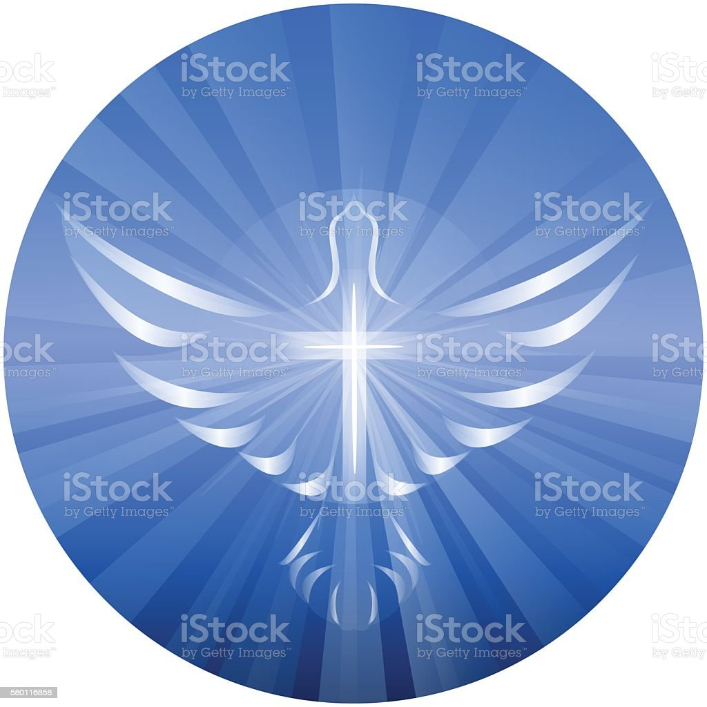 Dove Representing God's Holy Spirit vector art illustration