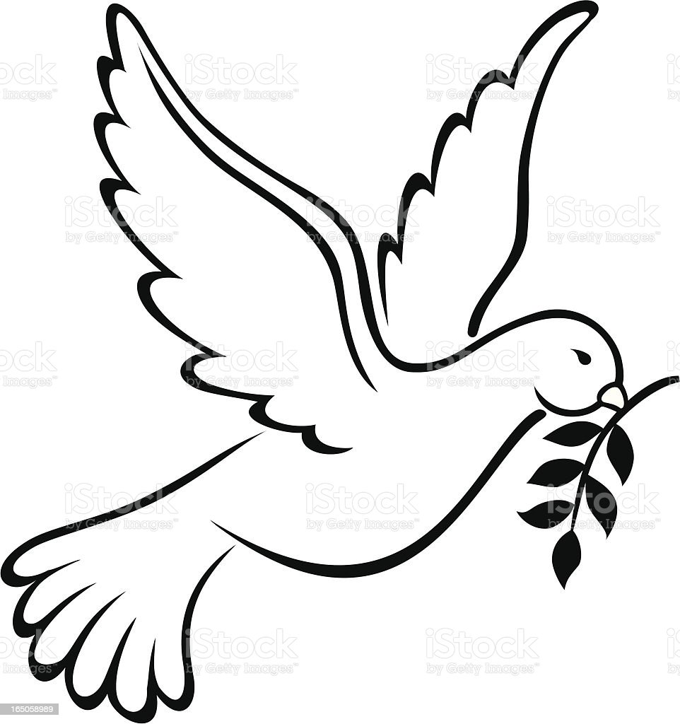 Dove, Symbol of Peace on Earth royalty-free stock vector art