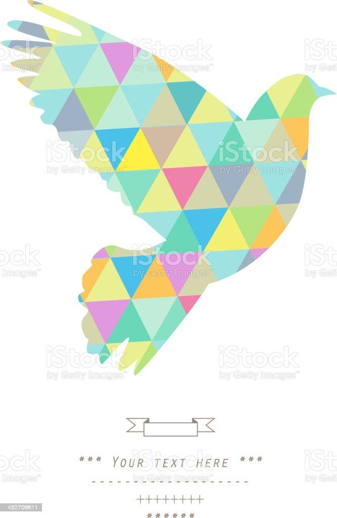 Dove. vector art illustration