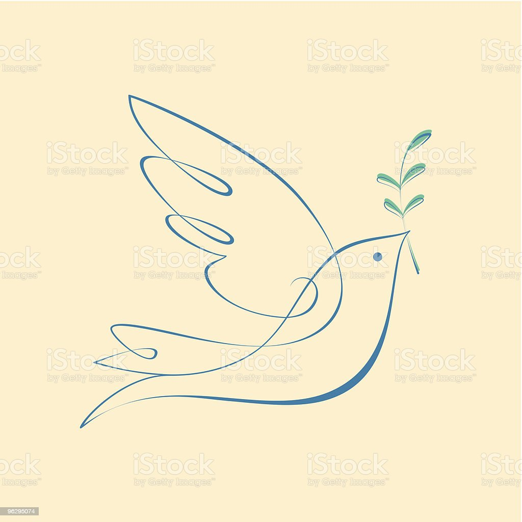 Dove_of_Peace vector art illustration