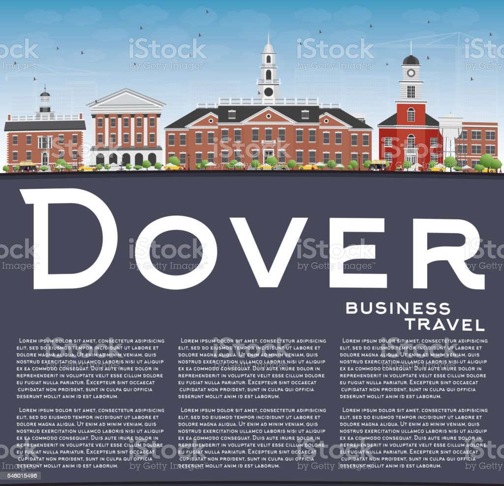 Color art anchorage - Dover Skyline With Color Buildings Blue Sky And Copy Space Royalty Free Stock