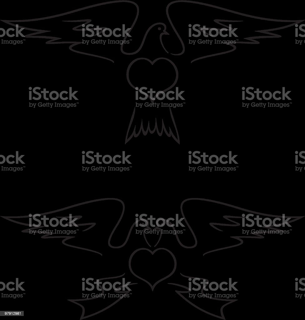 Doves (vector image) royalty-free stock vector art