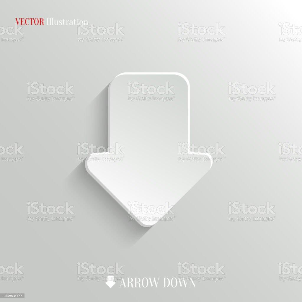 Down arrow icon - vector web background vector art illustration