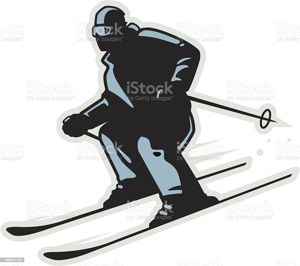 Downhill Skier royalty-free stock vector art