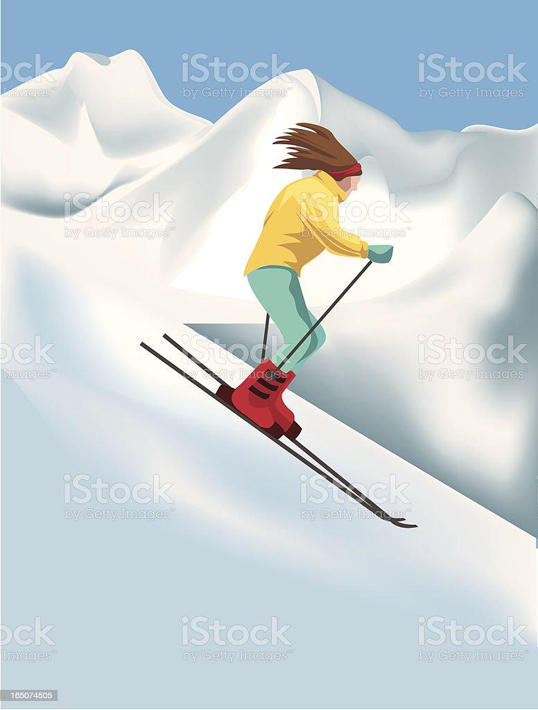 Downhill skiier royalty-free stock vector art