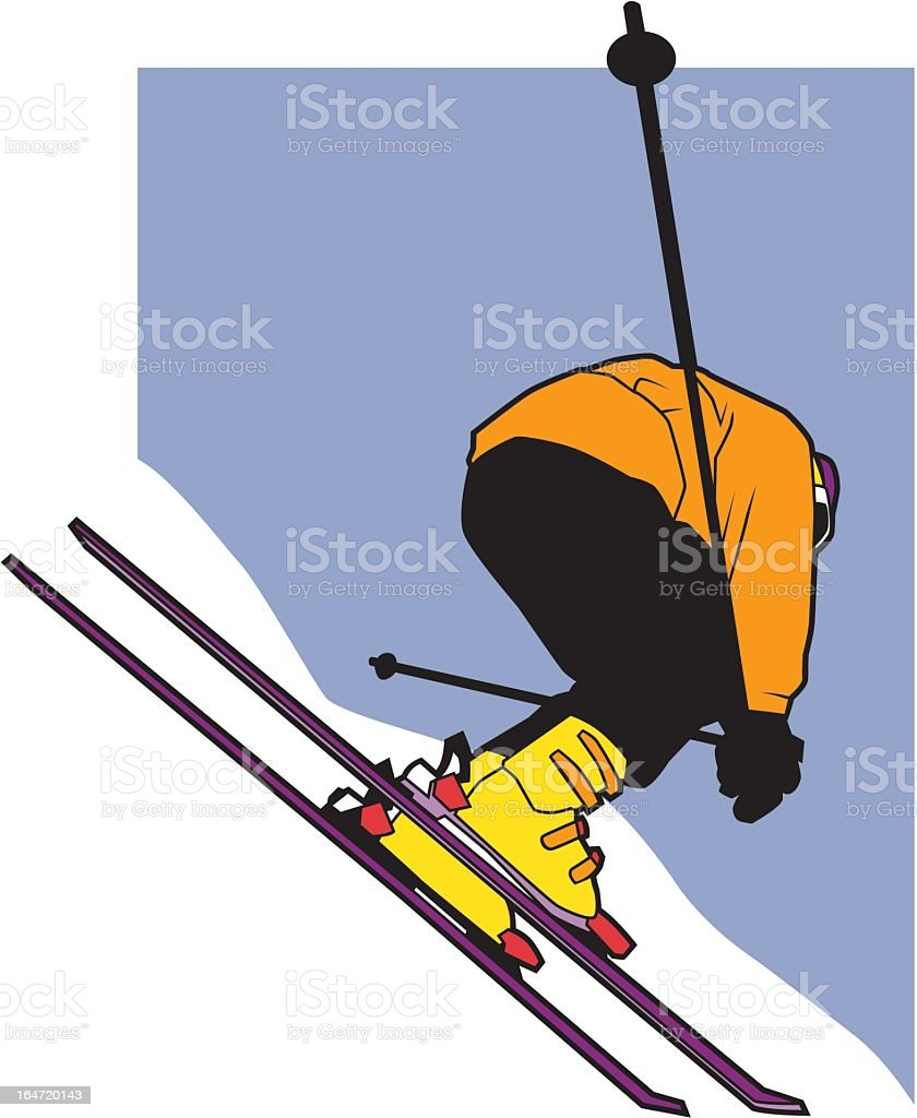 Downhill Skiing royalty-free stock vector art