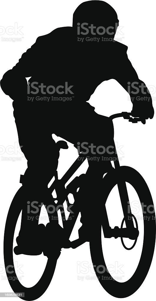 Downhill vector art illustration
