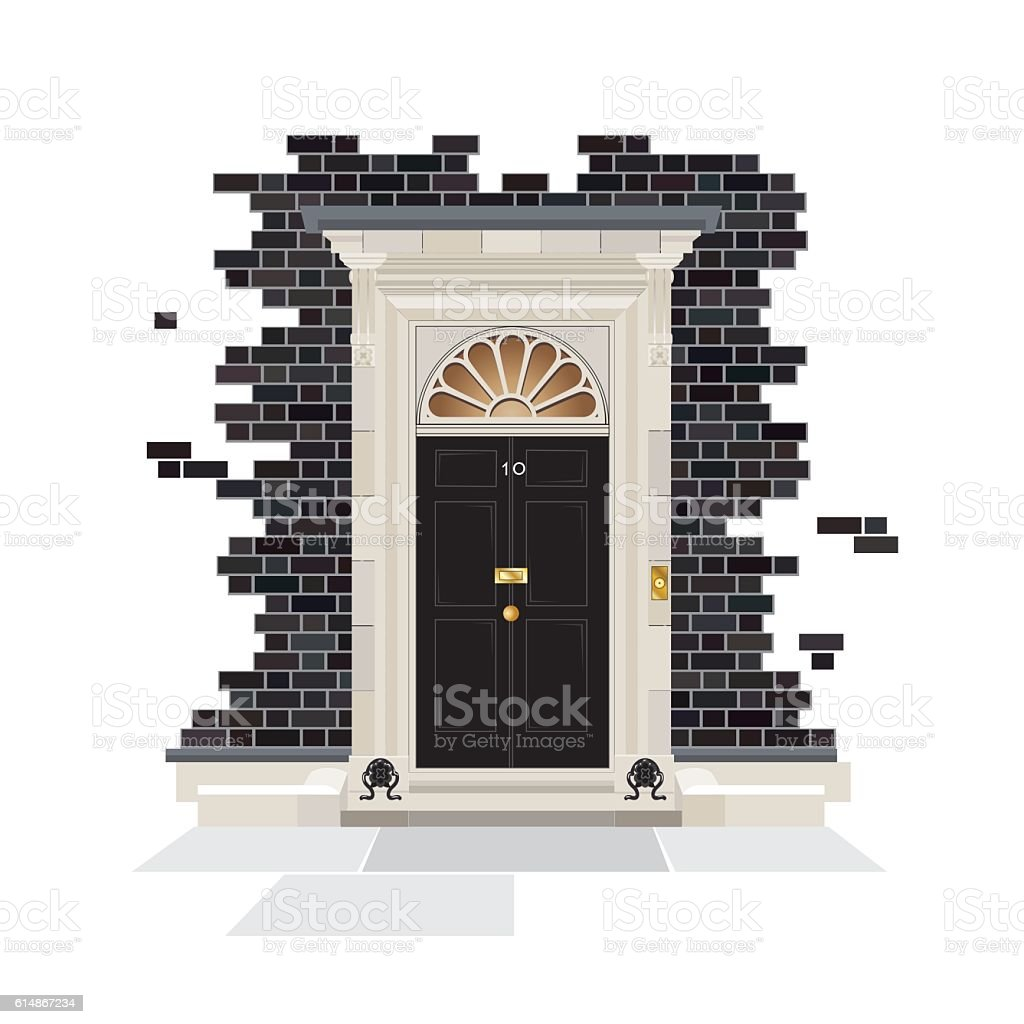 10 Downing Street vector art illustration