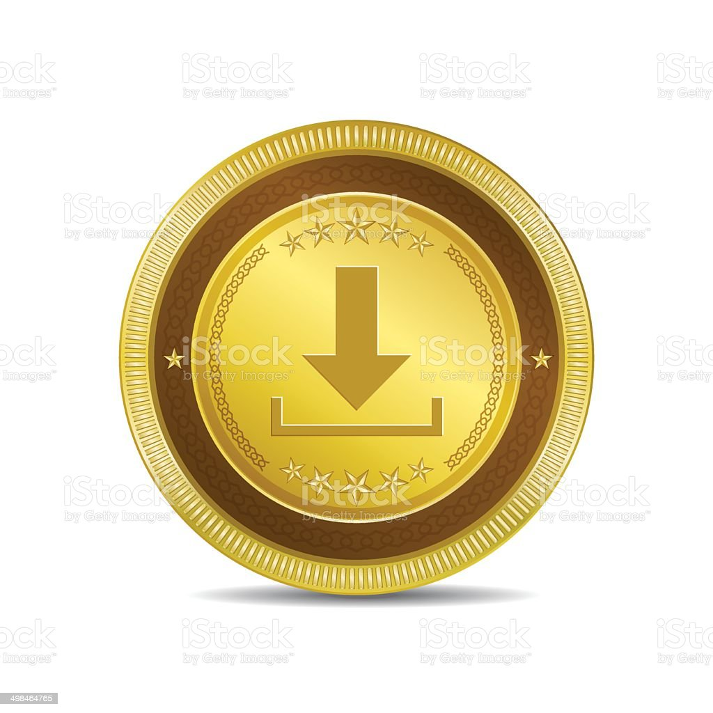 Download Circular Vector Gold Web Icon Button royalty-free stock vector art