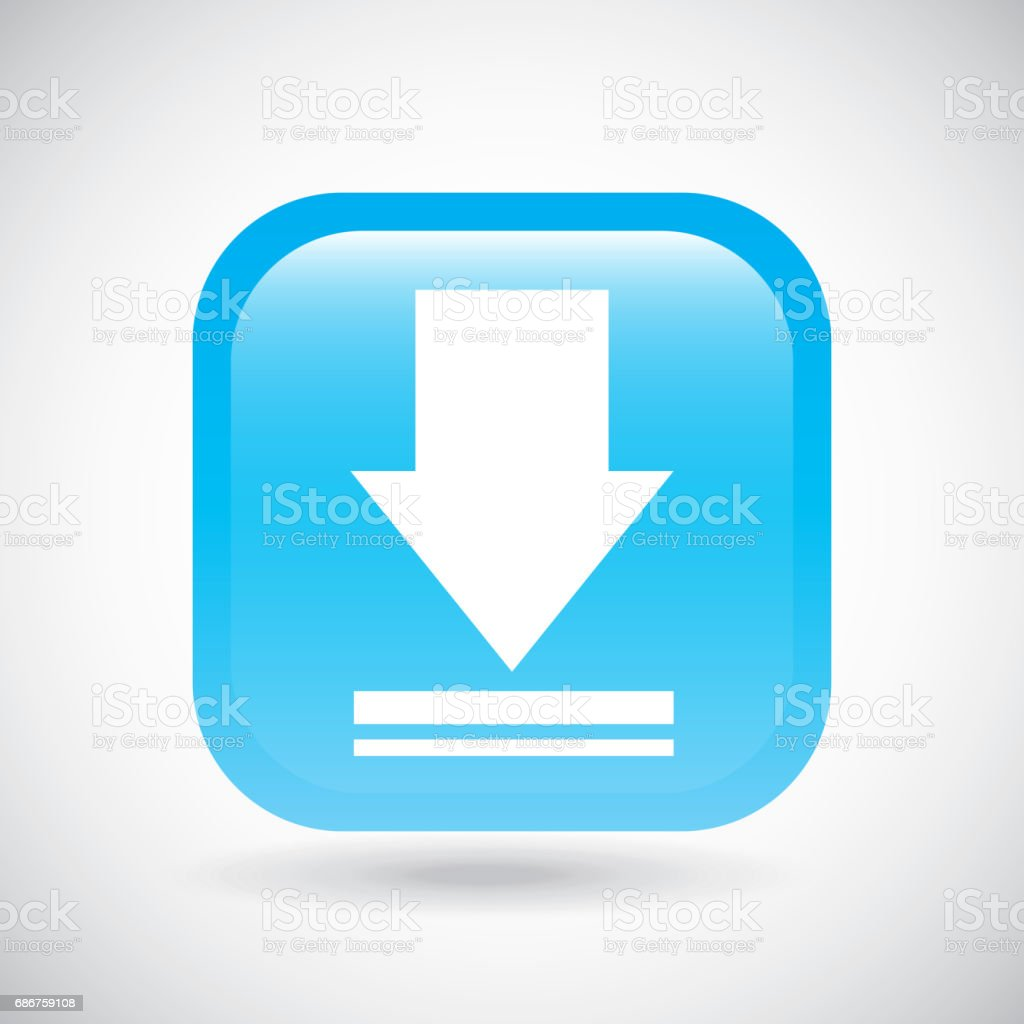 Download icon. Button design. Vector graphic vector art illustration