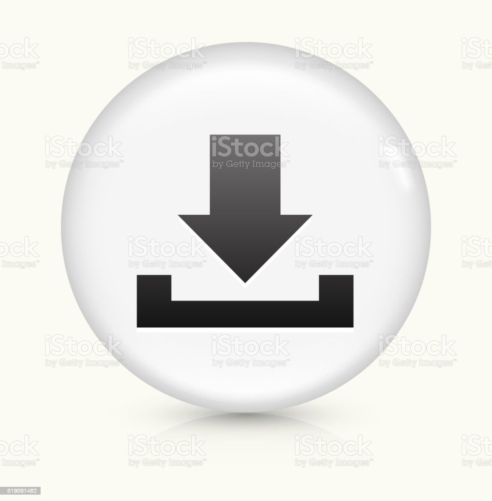 Download icon on white round vector button vector art illustration