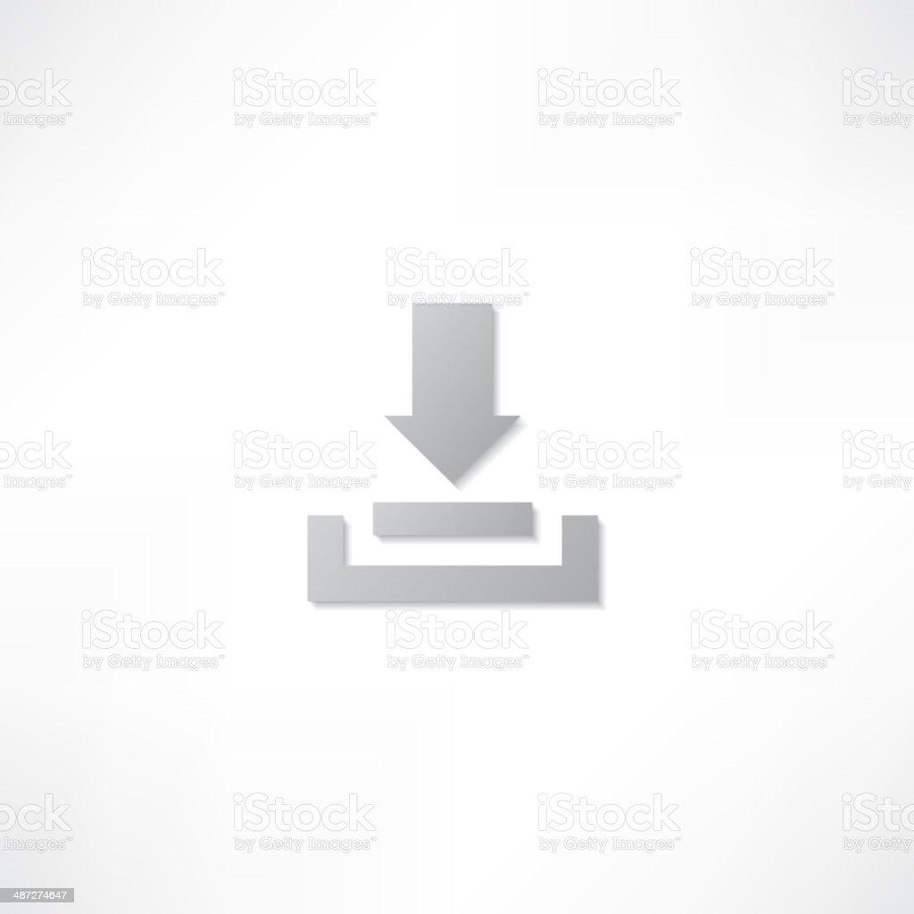 download icon vector art illustration