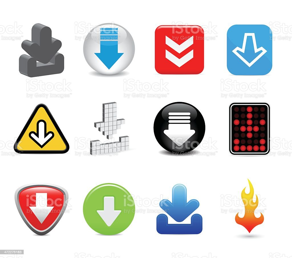 download icons royalty-free stock vector art
