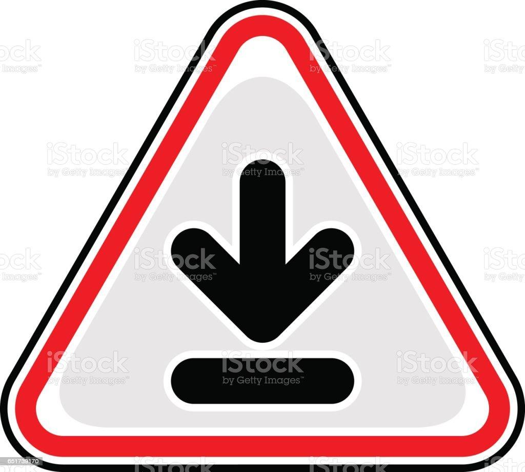 Download Sign Triangular Sticker Icon vector art illustration