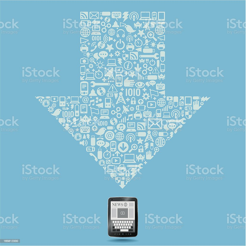 Downloading data royalty-free stock vector art