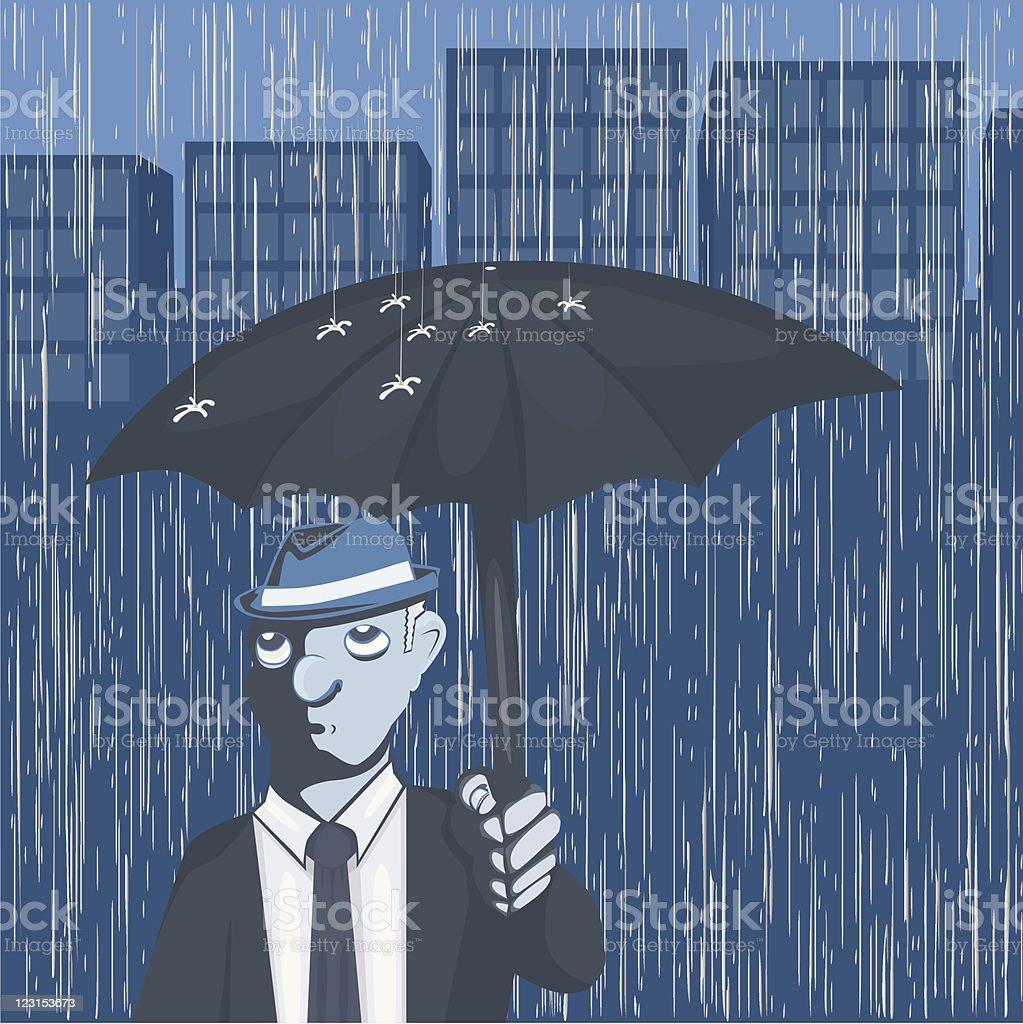 Downpour vector art illustration