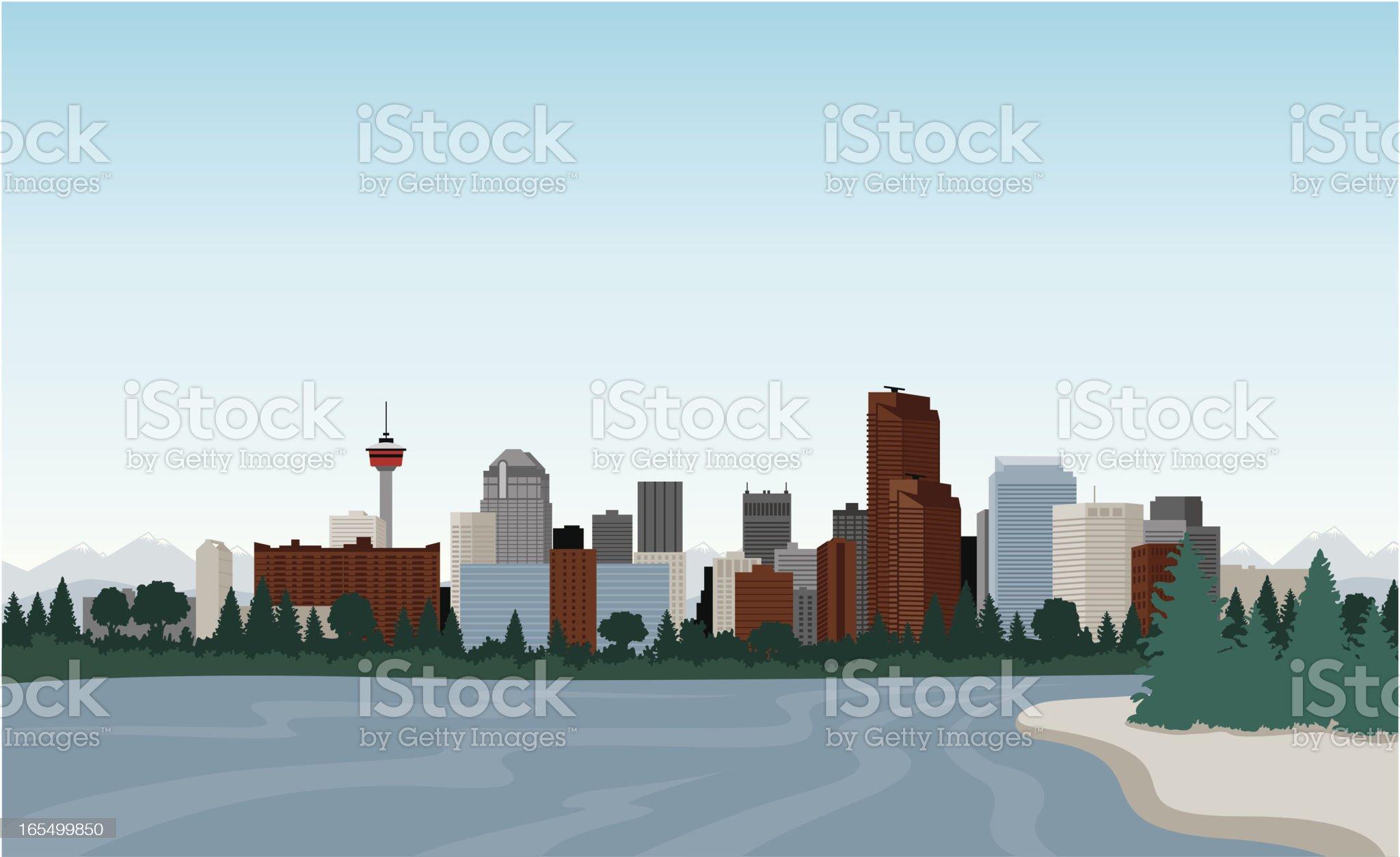 Downtown Calgary royalty-free stock vector art