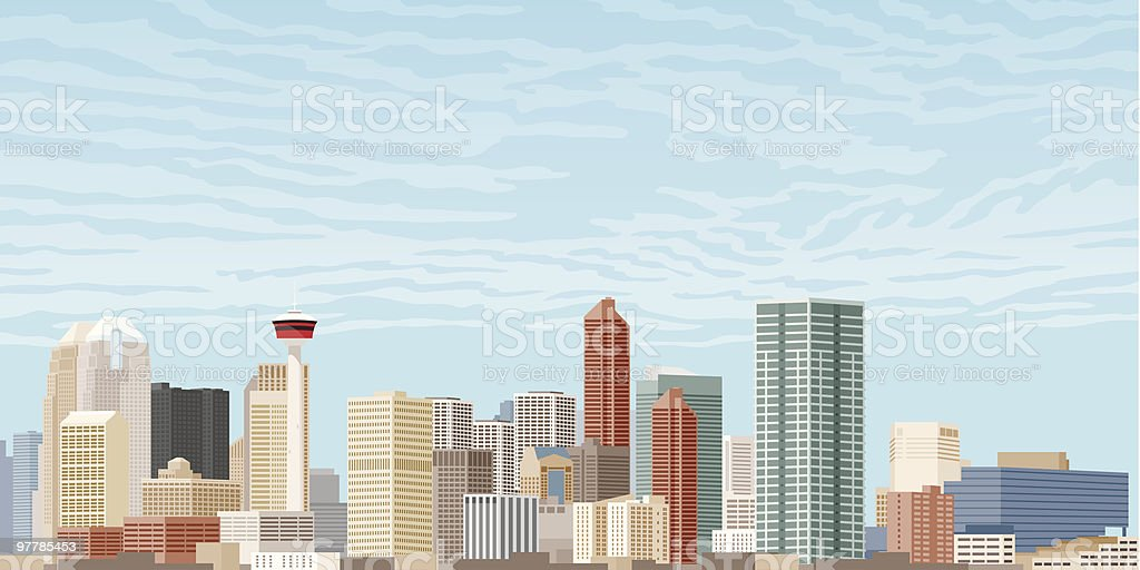 Downtown Calgary royalty-free stock vector art