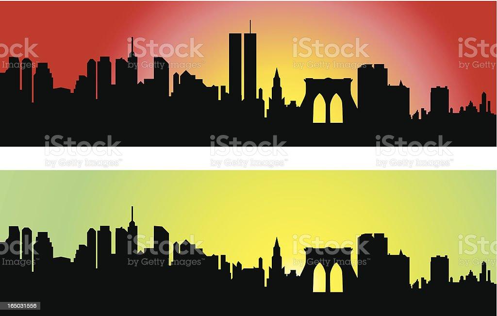 Downtown Manhattan Skyline ( Vector ) royalty-free stock vector art