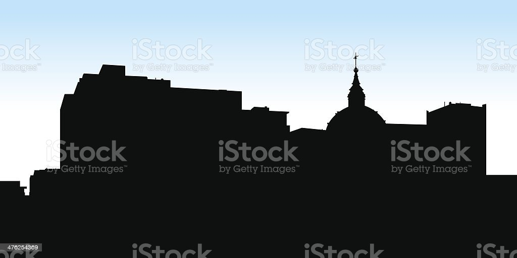 Downtown Montreal Silhouette royalty-free stock vector art