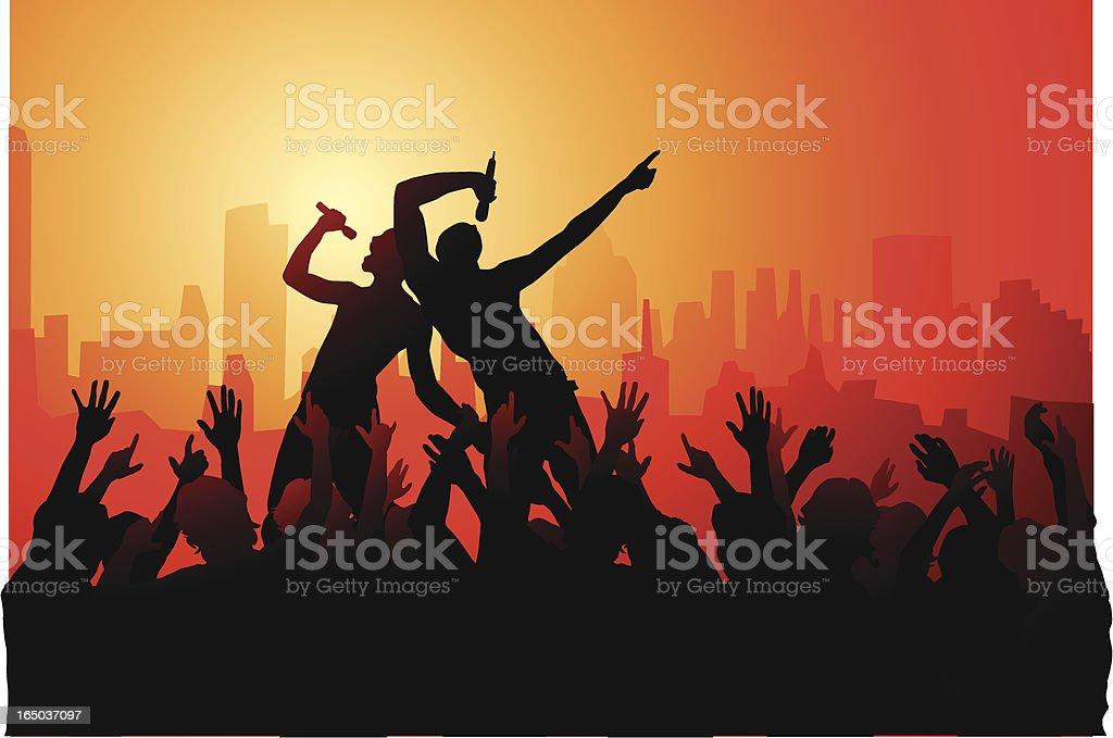 Downtown rock jam! royalty-free stock vector art