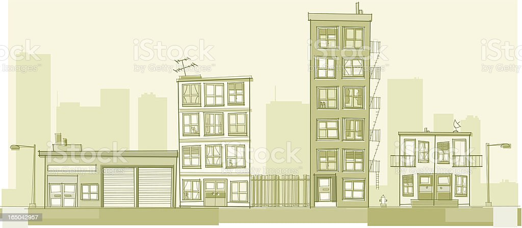 Downtown royalty-free stock vector art