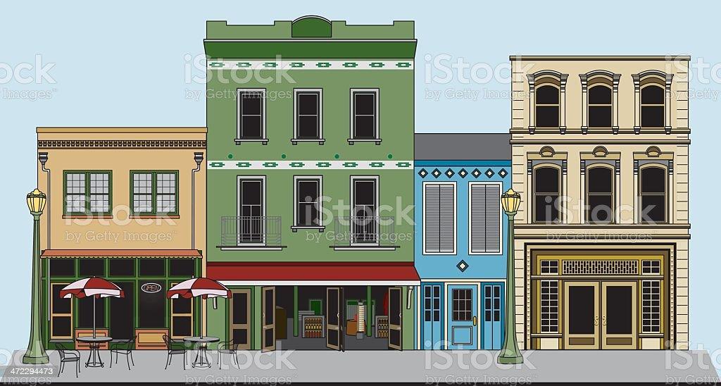 Downtown vector art illustration