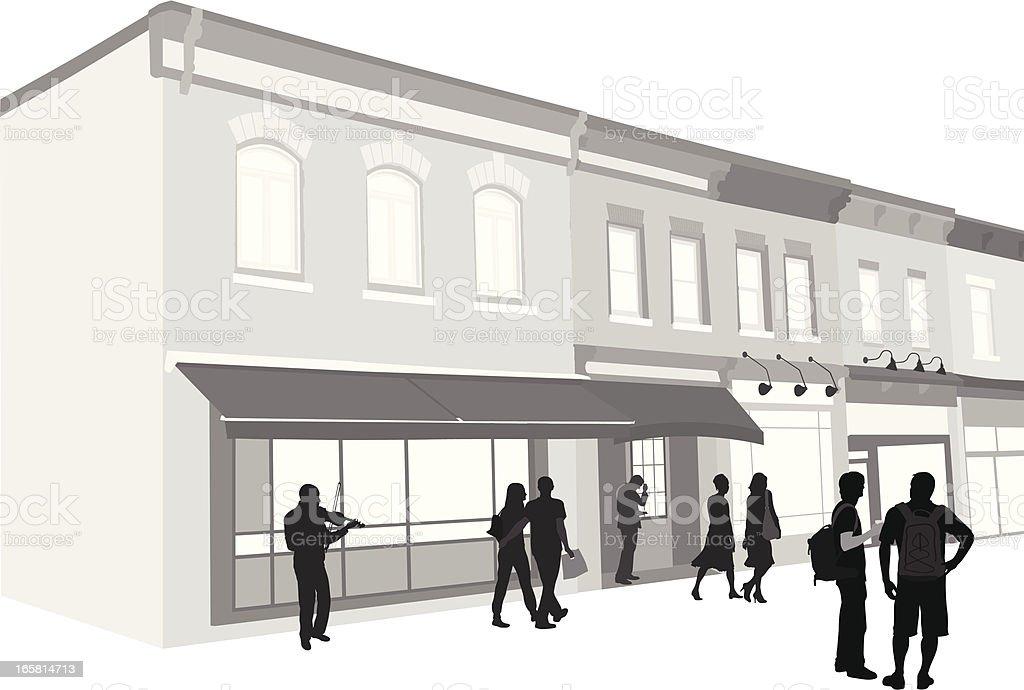 Downtown Vector Silhouette vector art illustration