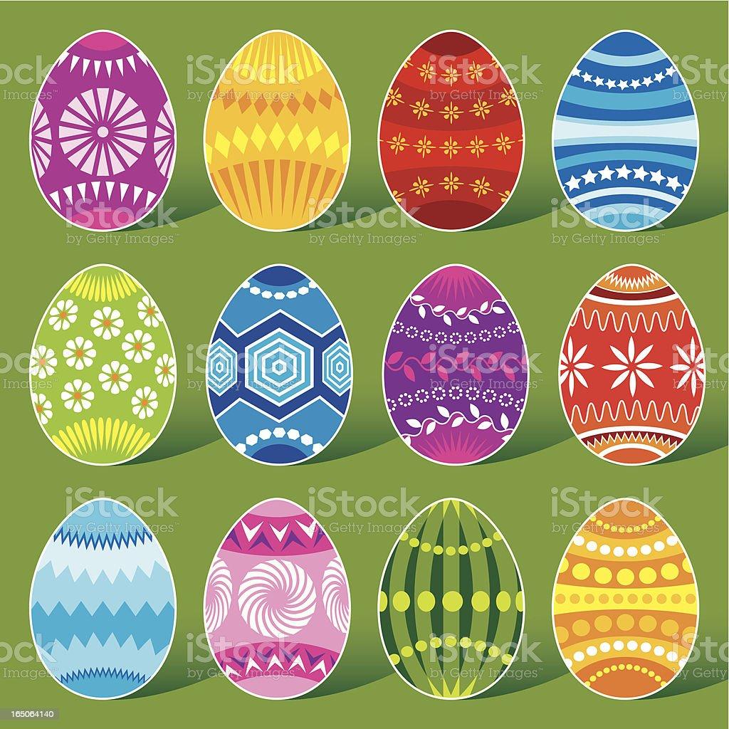 Dozen eggs royalty-free stock vector art