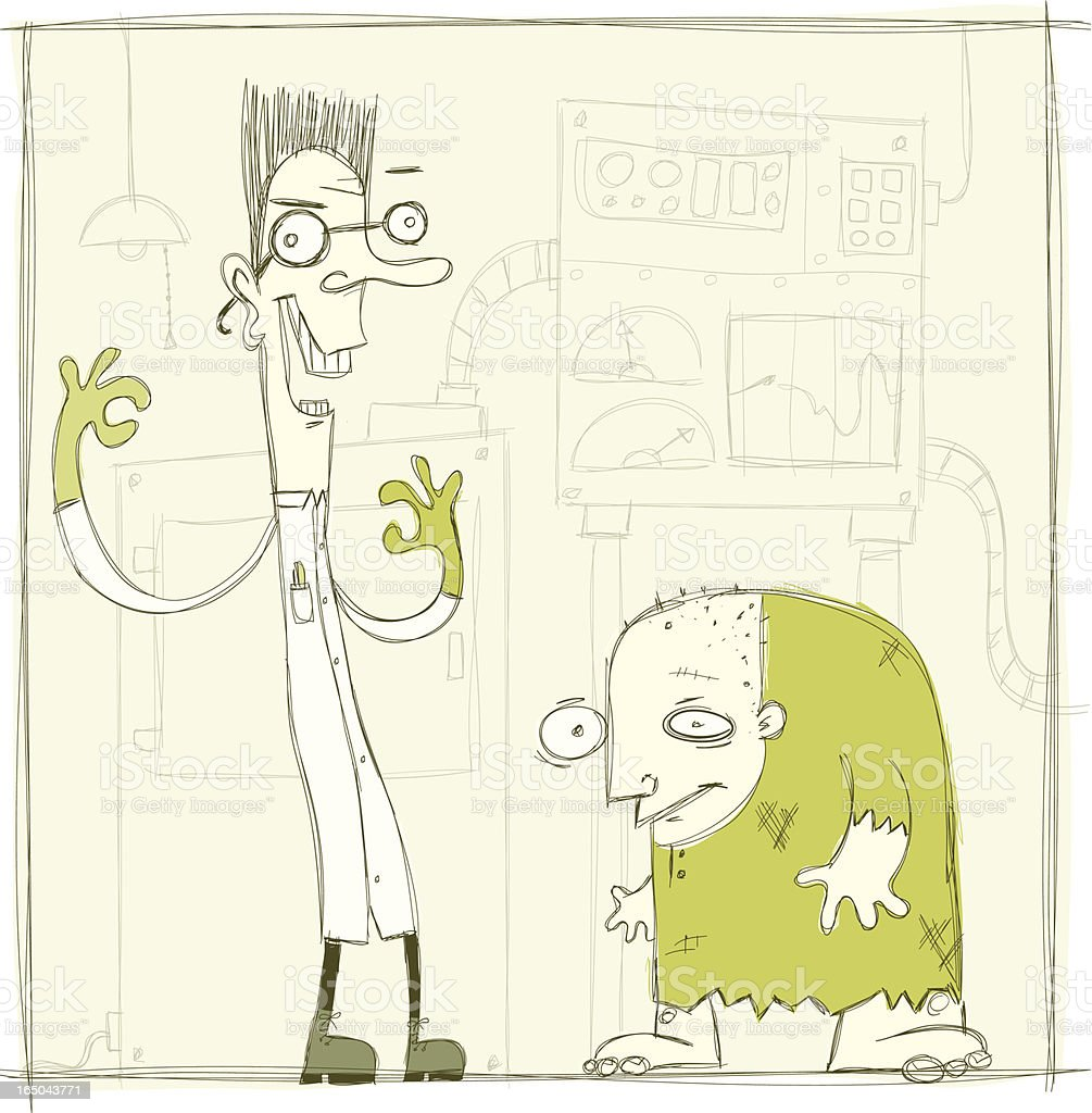 Dr. Madfastovitch & Igor vector art illustration