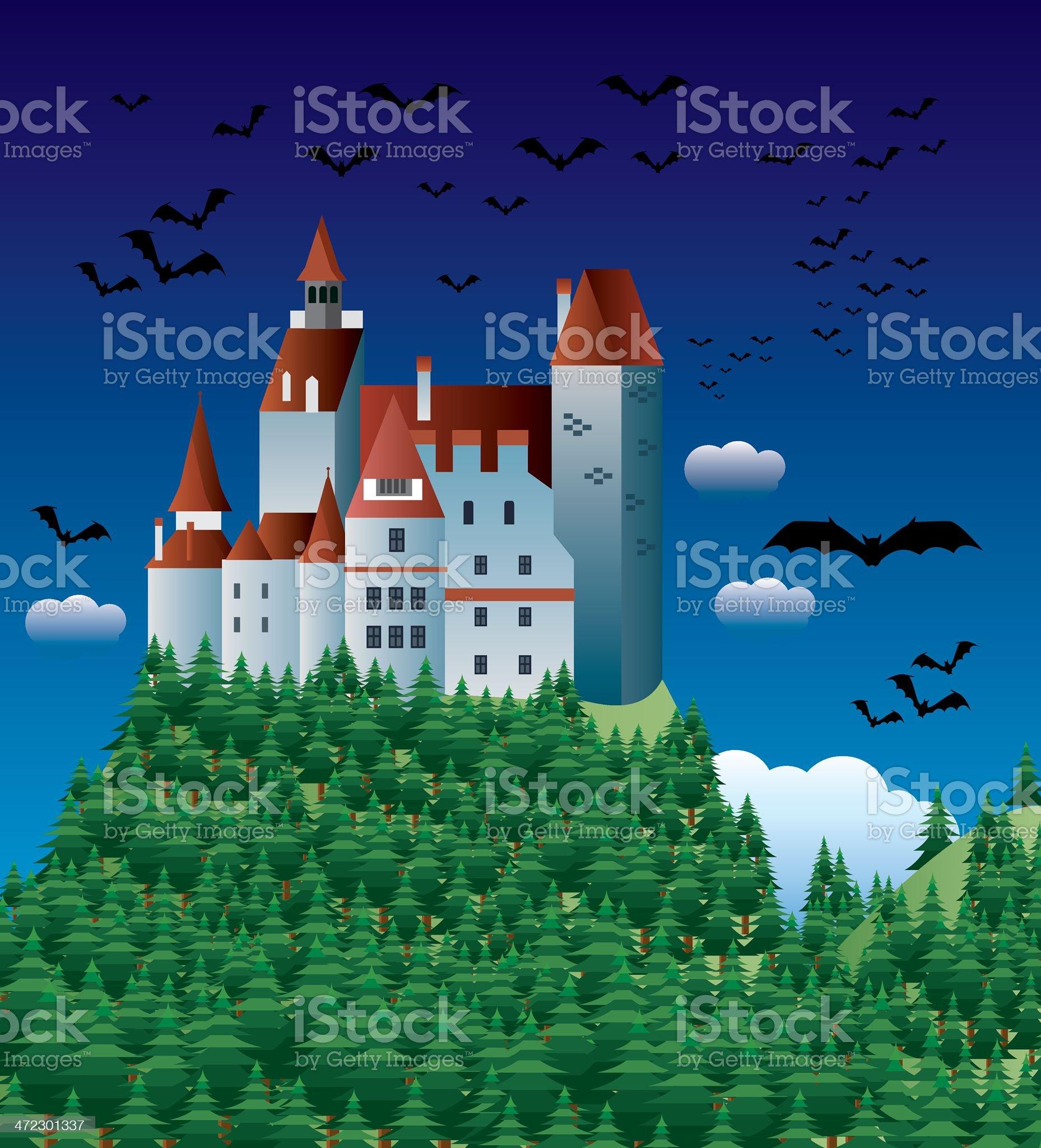 Dracula castle royalty-free stock vector art