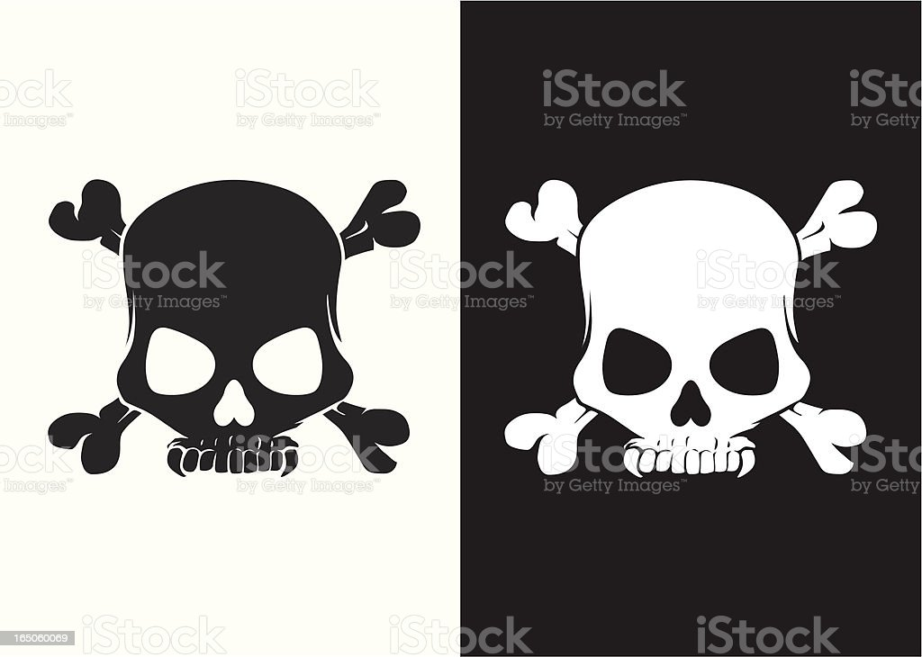 Dracula skull royalty-free stock vector art