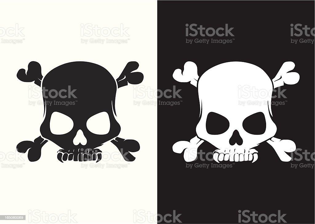 Dracula skull vector art illustration