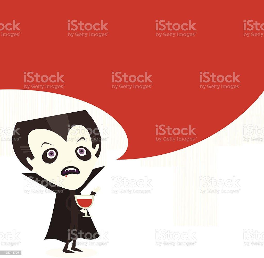 Dracula talk royalty-free stock vector art