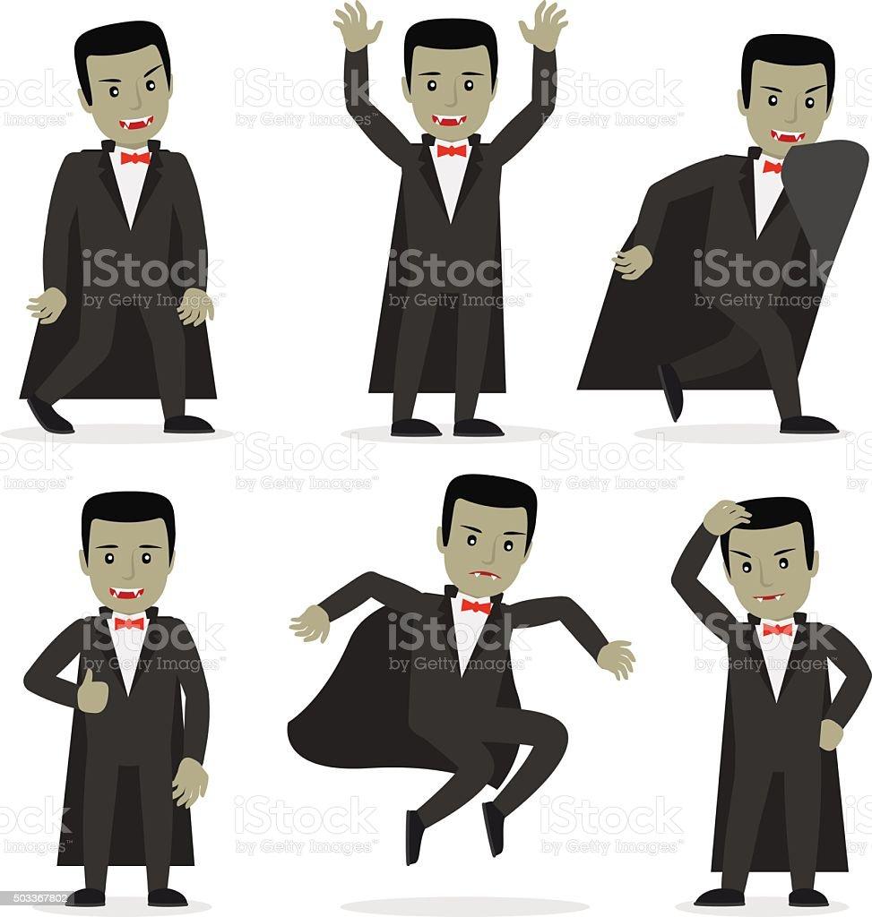 Dracula vampire cartoon character vector vector art illustration