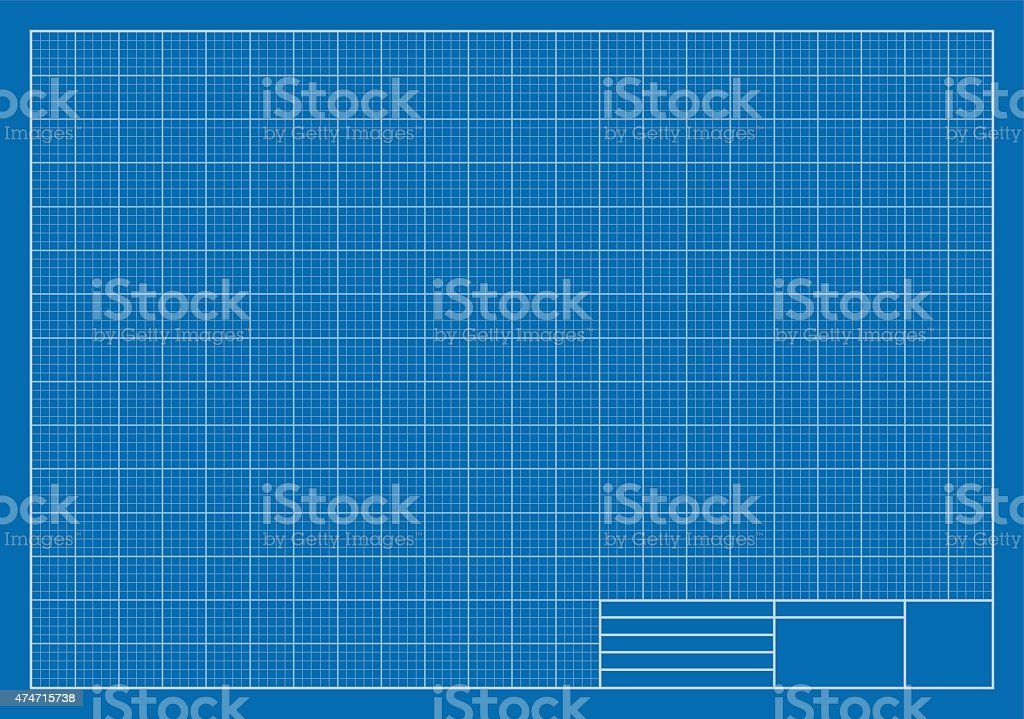 Drafting Blueprint, Grid, Architecture vector art illustration