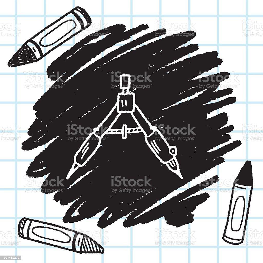 drafting doodle vector art illustration