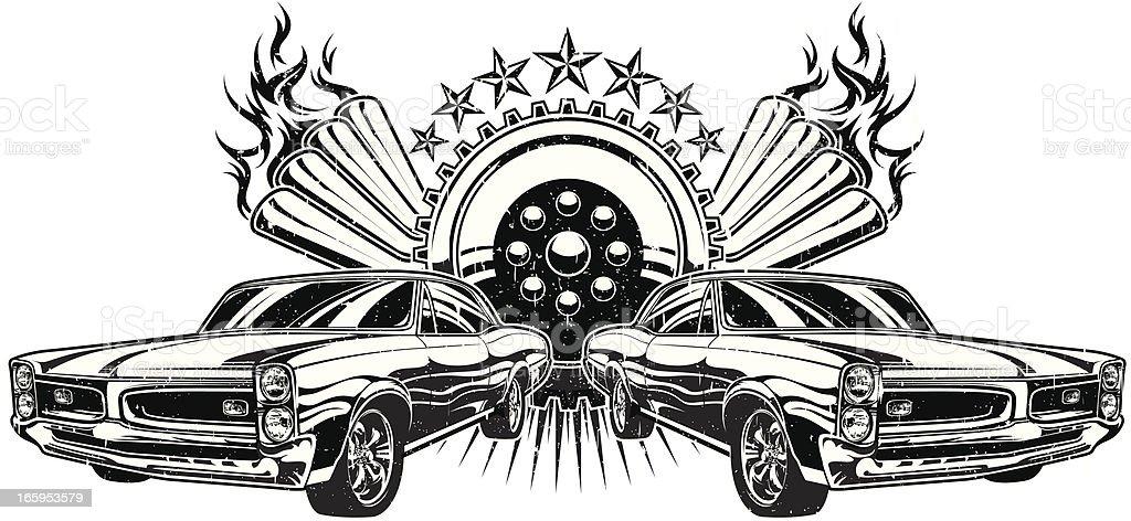 Drag Race GTO vector art illustration