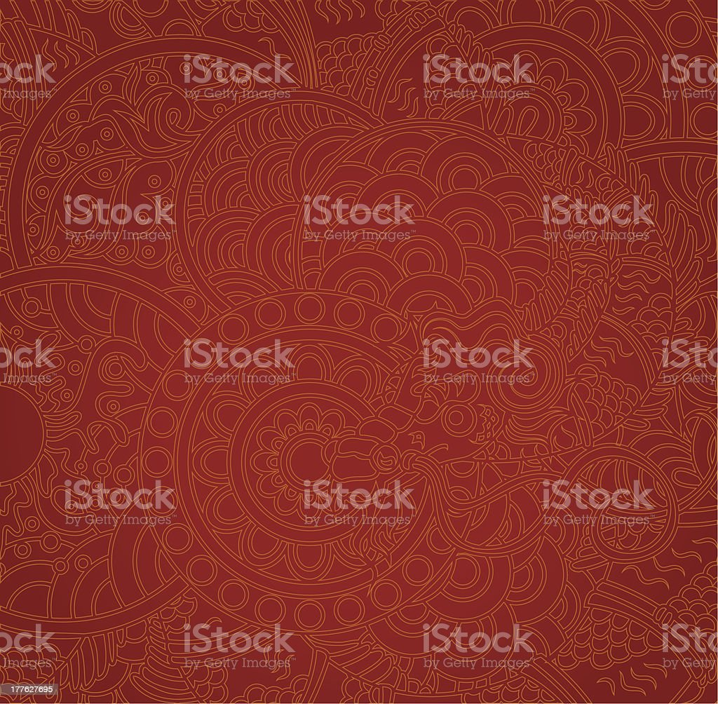 Dragon background, two colors in pack. vector art illustration