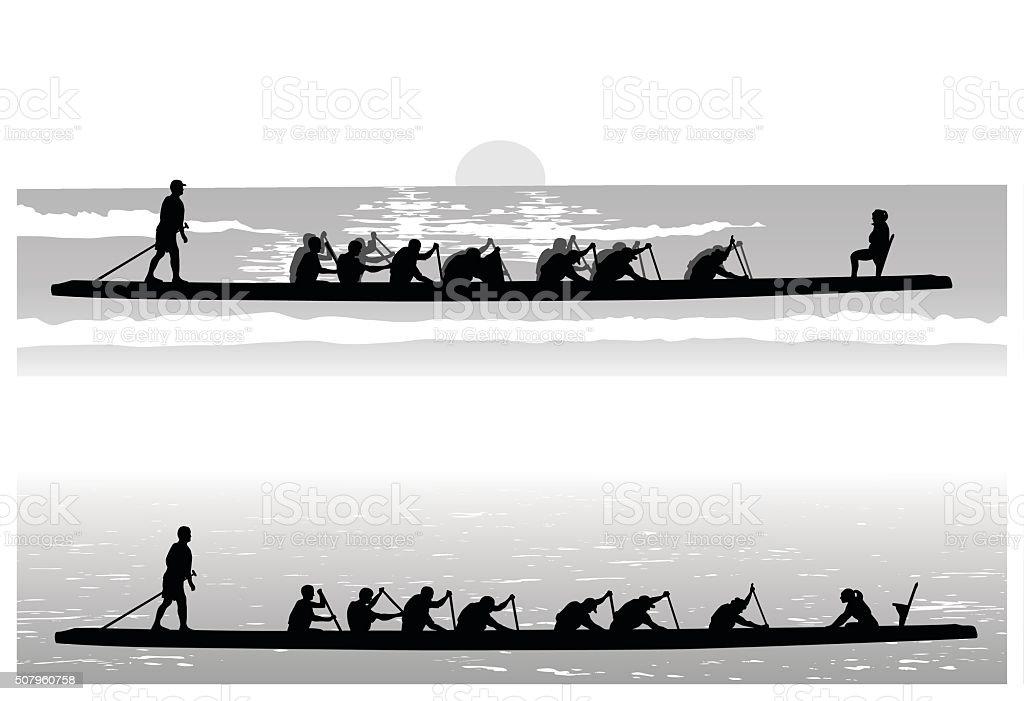 Dragon Boat Club vector art illustration